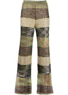 Missoni sequin embellished striped trousers