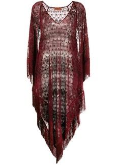 Missoni sheer fringed beach dress
