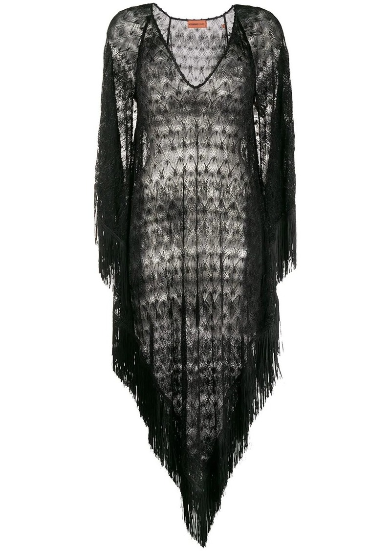 Missoni sheer fringed beach dress