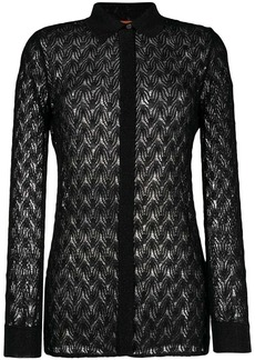 Missoni sheer knitted shirt