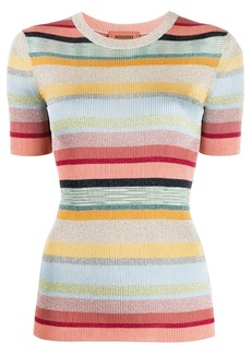 Missoni short-sleeved striped knit top