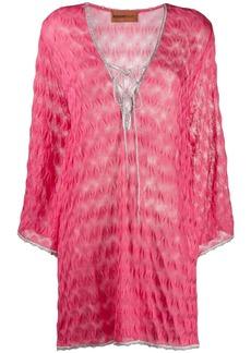Missoni short textured dress
