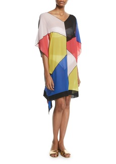 Missoni Silk Colorblock Caftan Coverup