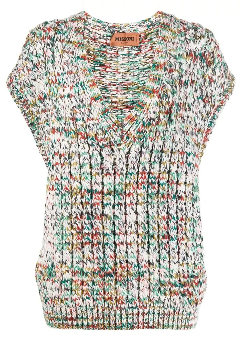 Missoni sleeveless cable knit top