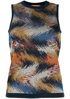 Missoni sleeveless knitted top