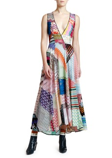 Missoni Sleeveless V-Neck Patchwork Dress