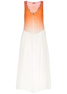 Missoni sleeveless zig zag trim cotton dress