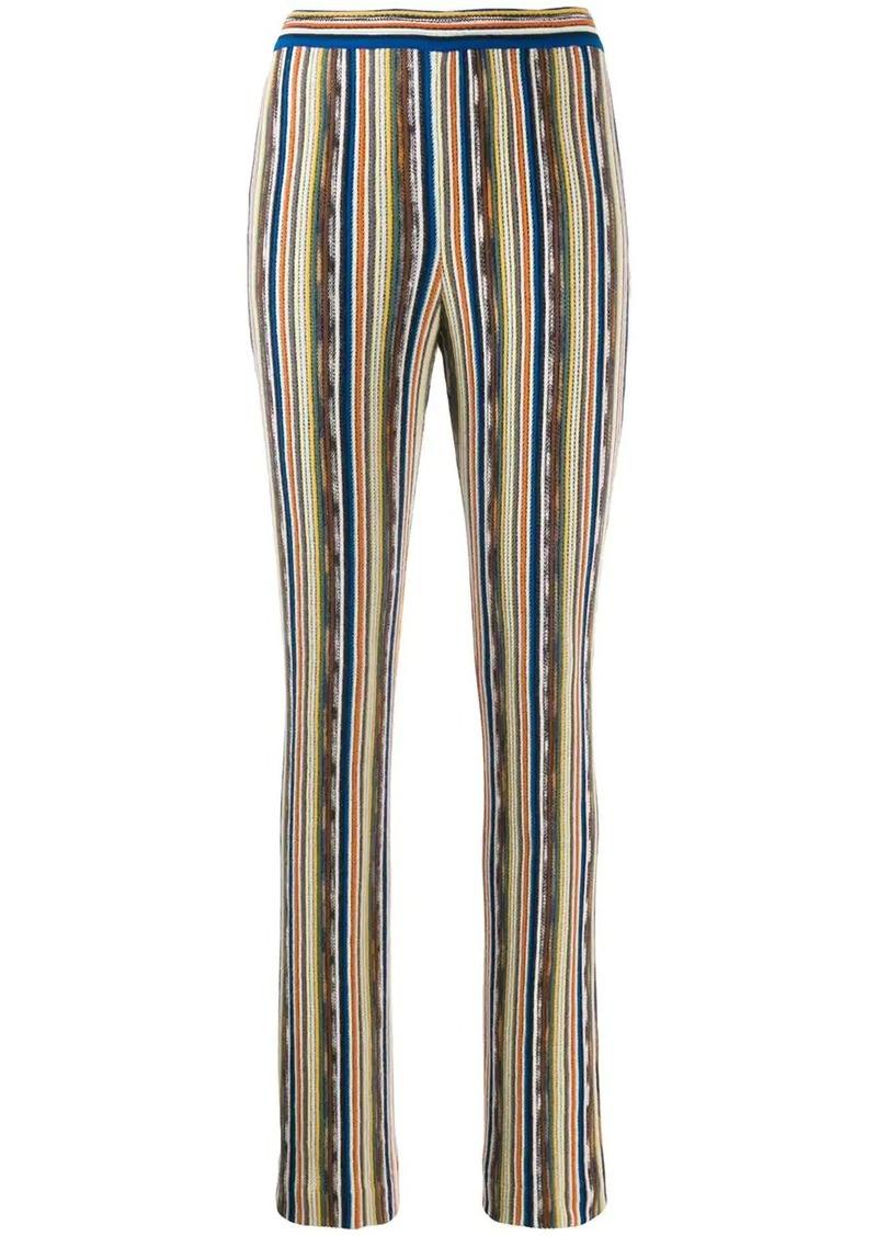 Missoni slim striped trousers