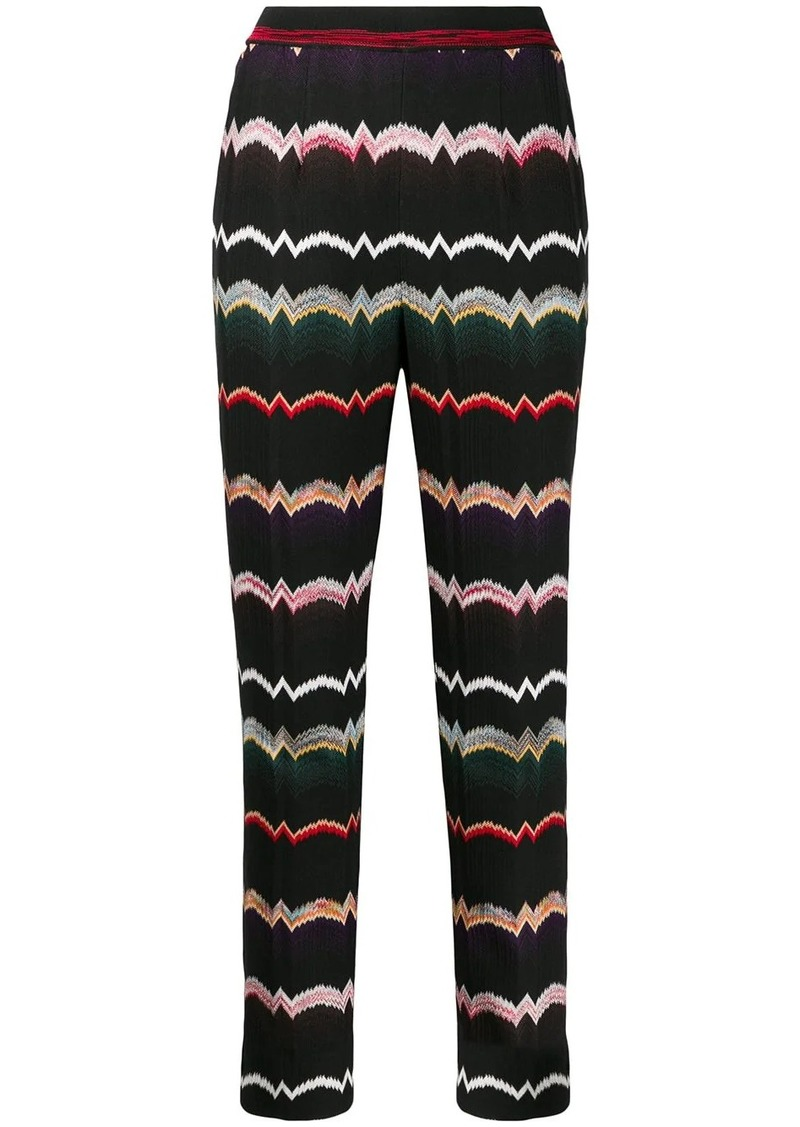 Missoni stretch knit capri pants