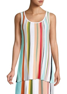 3fa827c64fc24 Missoni Missoni Faded-stripe ribbed-knit tank top