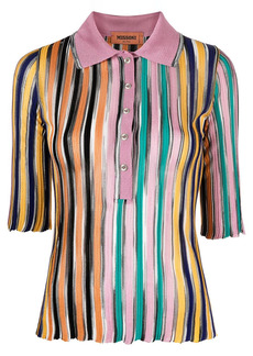 Missoni stripe-print knitted polo top