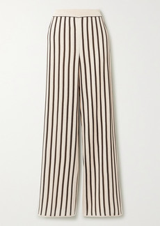 Missoni Striped Crochet-knit Straight-leg Pants