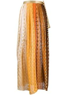 Missoni striped-crochet maxi skirt