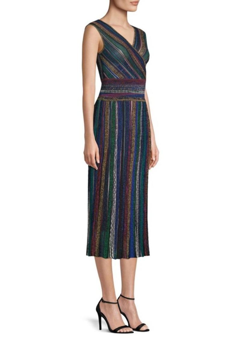 ab9ac14a3ae46 Missoni Striped Faux-Wrap Midi Dress | Dresses