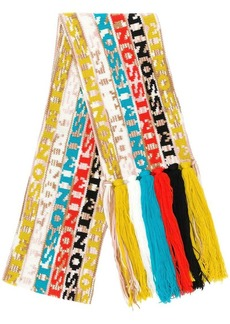 Missoni striped fringed scarf