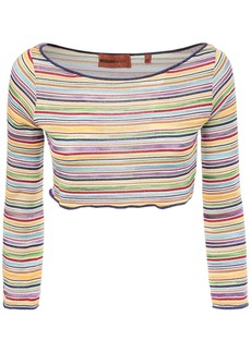 Missoni Striped Knit Crop Top