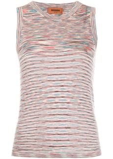 Missoni striped knit tank top