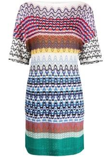 Missoni striped knitted mini dress