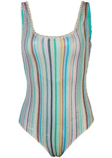 Missoni striped knitted swimsuit