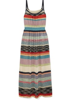 Missoni Striped Metallic Crochet-knit Midi Dress