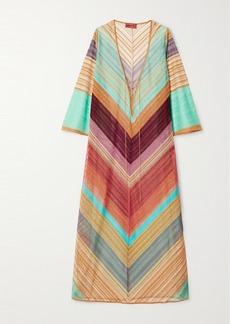 Missoni Striped Metallic Crochet-knit Kaftan