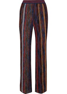 Missoni Striped Metallic Crochet-knit Wide-leg Pants