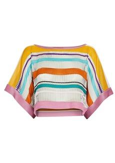 Missoni Striped Open Knit Crop Top