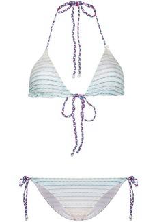 Missoni striped pattern bikini set