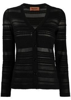 Missoni striped-pattern buttoned cardigan