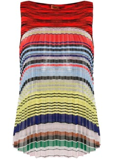 Missoni striped pleated top