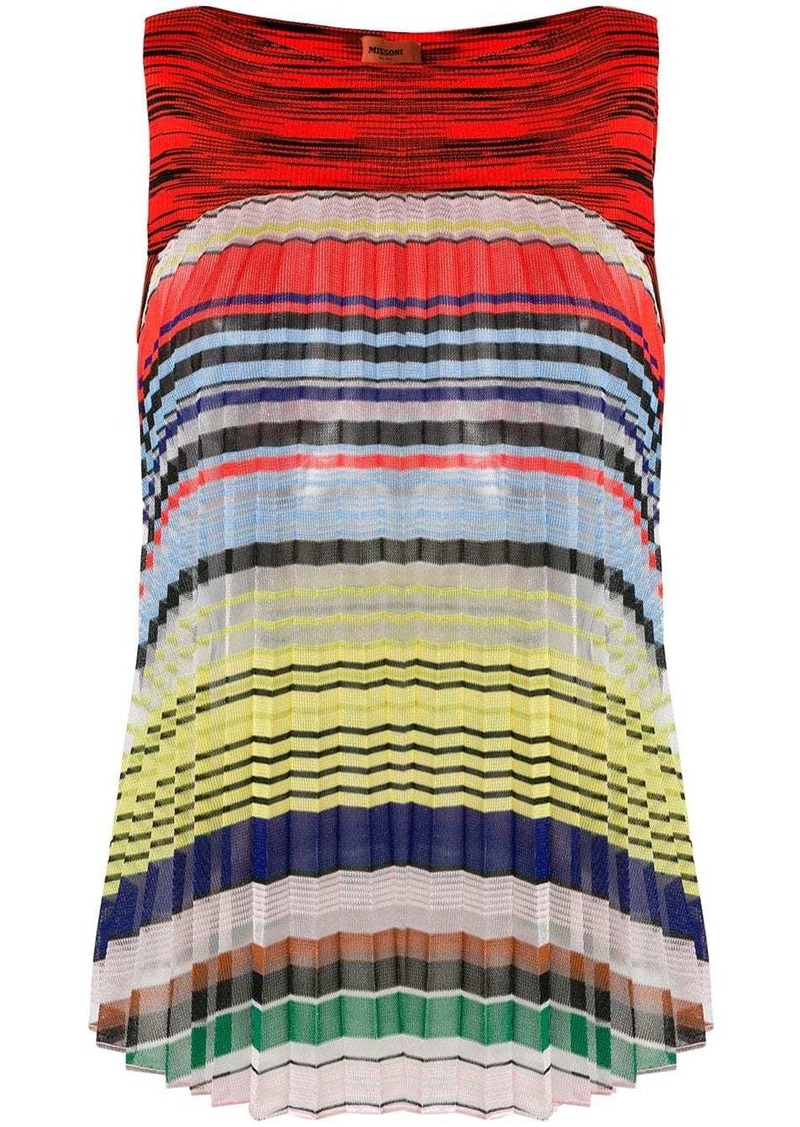 Missoni striped pleated tank top