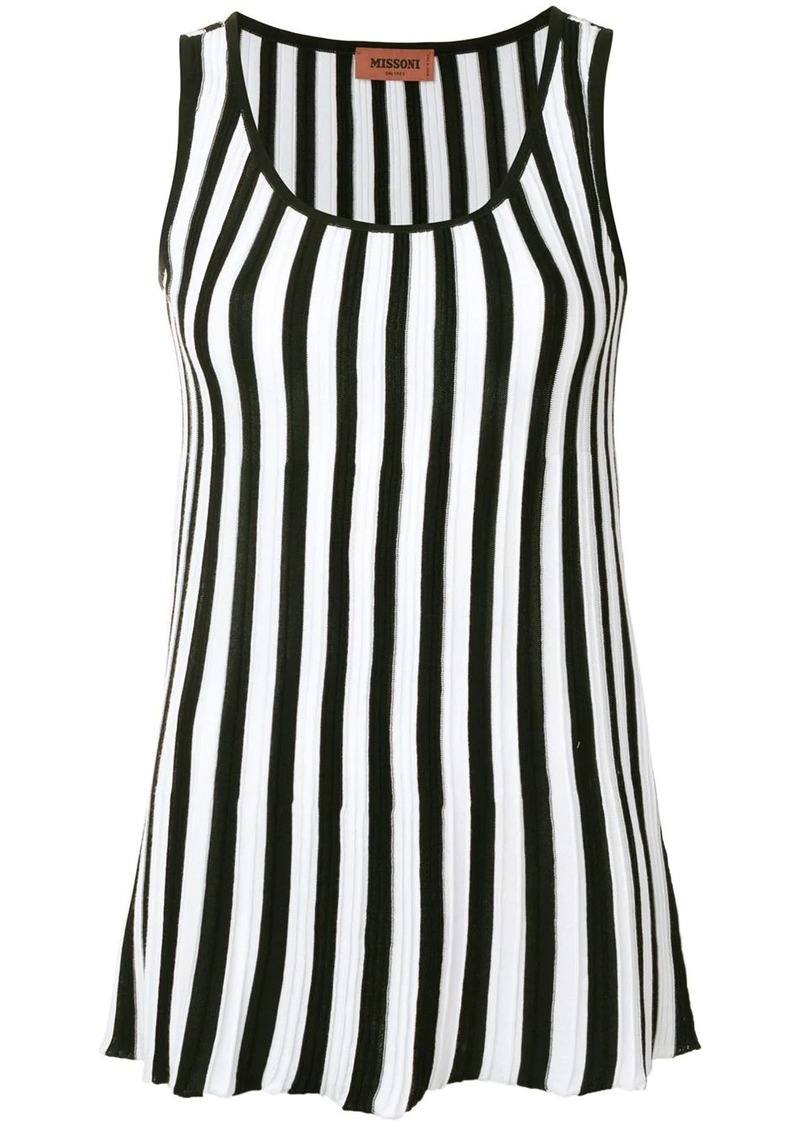 Missoni striped tank-top