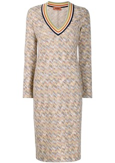 Missoni striped V-neck dress