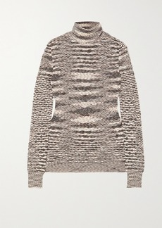 Missoni Striped Wool Crochet-knit Turtleneck Sweater