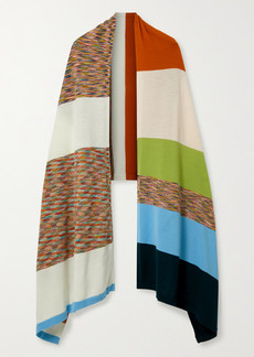Missoni Striped Wool-jacquard Wrap
