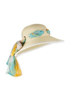 Missoni Sun Hat with Scarf Detail