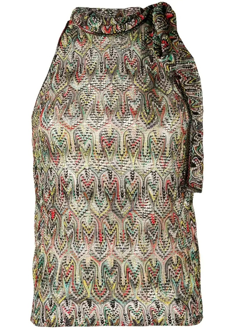 Missoni tie neck blouse