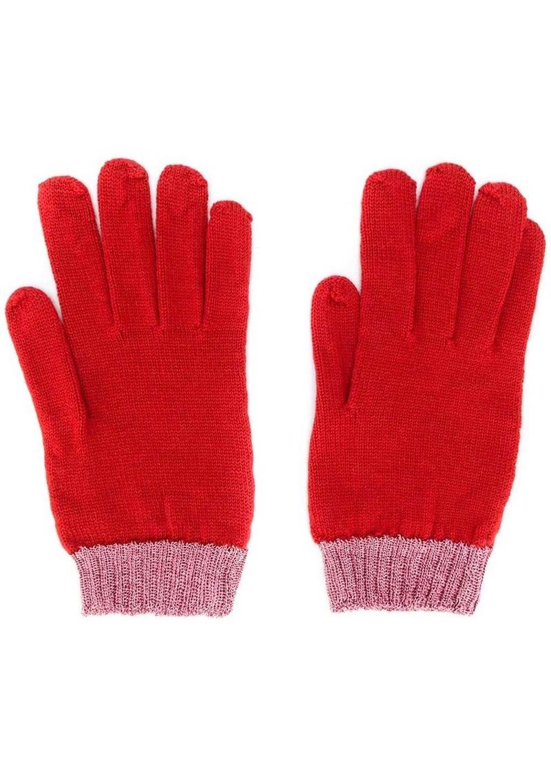 Missoni two-tone gloves
