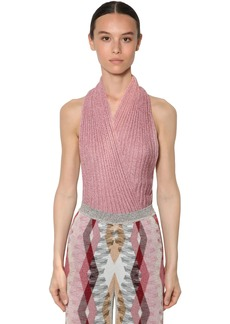 Missoni Viscose Rib Knit Lamé Top