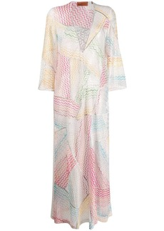 Missoni wave pattern beach dress