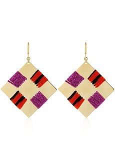 Missoni Waving Metal & Knit Square Earrings