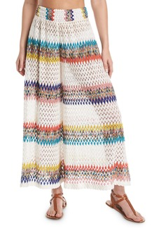 Missoni Wavy-Knit High-Rise Coverup Pants