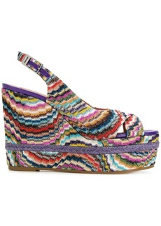 Missoni wedged striped sandals