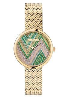 Women's Missoni M1 Joyful Knit Dial Bracelet Watch & Leather Strap Set