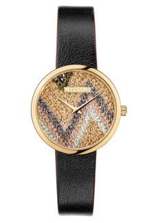 Women's Missoni M1 Joyful Knit Dial Leather Strap Watch Gift Set