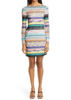 Women's Missoni Stripe Jacquard Long Sleeve Sweater Dress