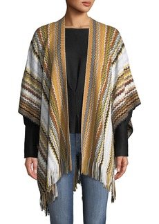 Missoni Wool-Blend Fringed Chevron Shawl