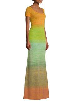 Missoni Wool Blend Gradient Maxi Dress