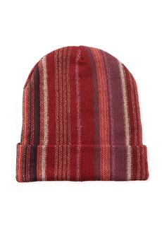 Missoni Wool-Blend Metallic Striped Knit Hat