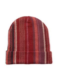 Missoni Wool-Blend Metallic Striped Knit Hat